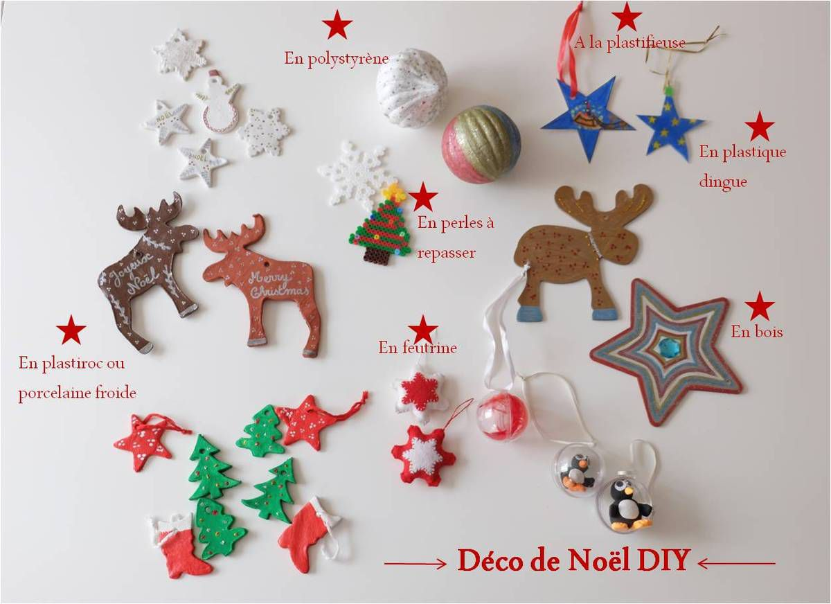 D co de no l faire avec les enfants diy lucky sophie - Faire decoration de noel ...