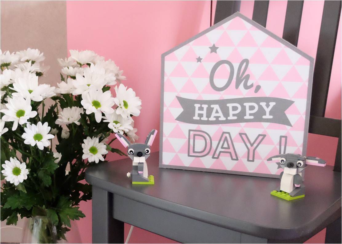 "Lampe de chevet Little House ""Oh Happy Day !"""