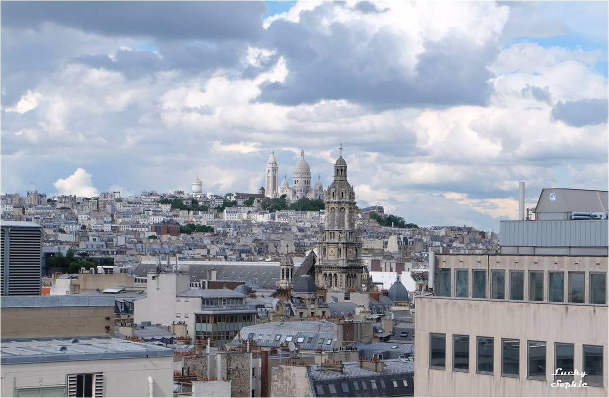 Paris vu d 39 en haut la terrasse du printemps lucky Terrasse vue paris