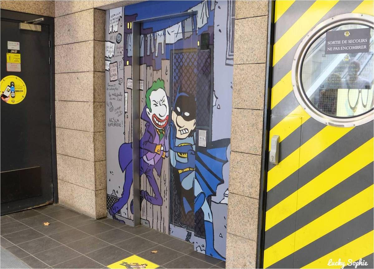 Art et BD dans les parkings de Lyon Grôlée &amp&#x3B; République