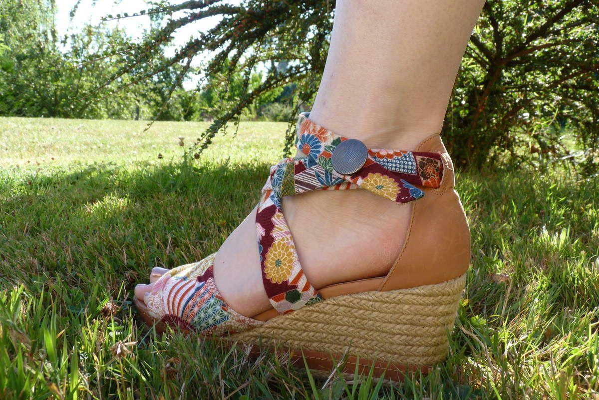 Chaussures d'été relookées