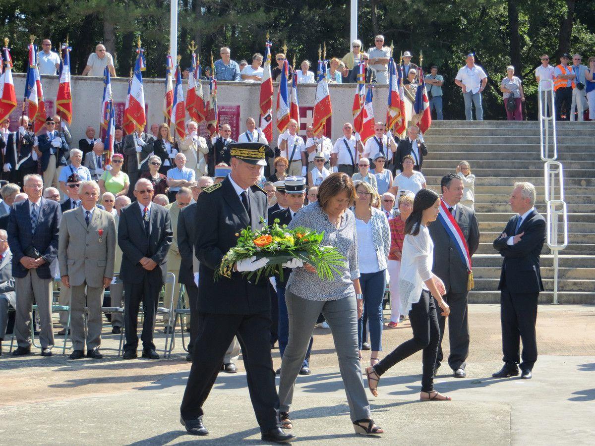 Commémoration du 72ème anniversaire de la Libération de la Drôme au Mémorial de la Résistance à Mirmande. septembre 2016