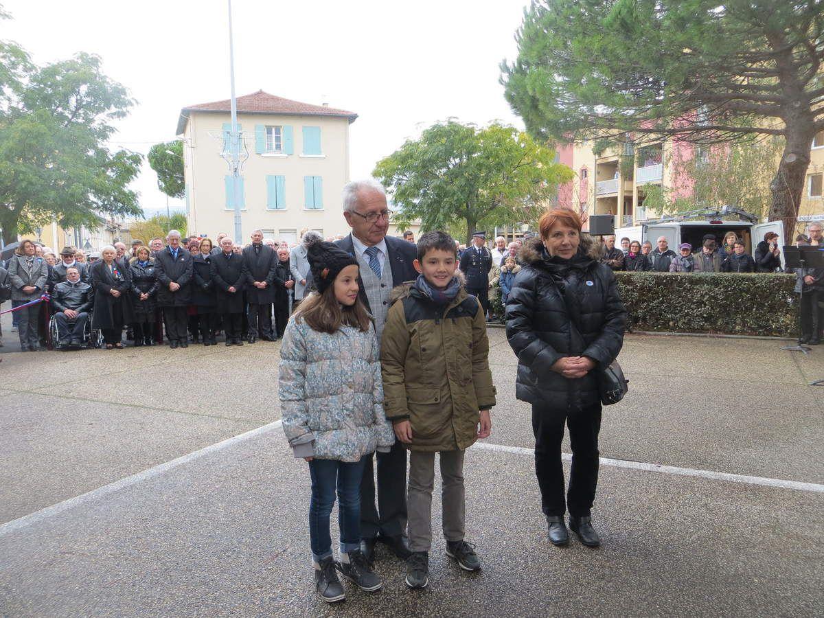 Bourg-lès-Valence, Commémoration de l'Armistice du 11 novembre 1918 et l'Hommage rendu à tous les Morts pour la France. novembre 2016