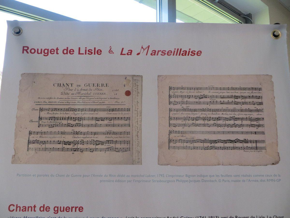 Bourg-lès-Valence, ''Rouget de Lisle et la Marseillaise'' exposé au collège Gérard Gaud.avril 2017