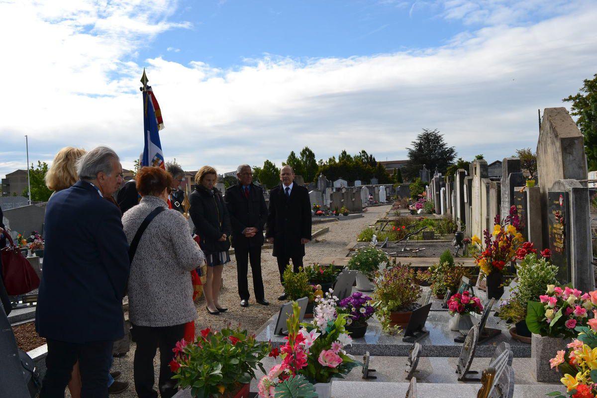 - photo 7 les Enfants de Résistants Déportés Germain Fraisse, Félix Chevalier, André Munier, Aimé Bonnefois