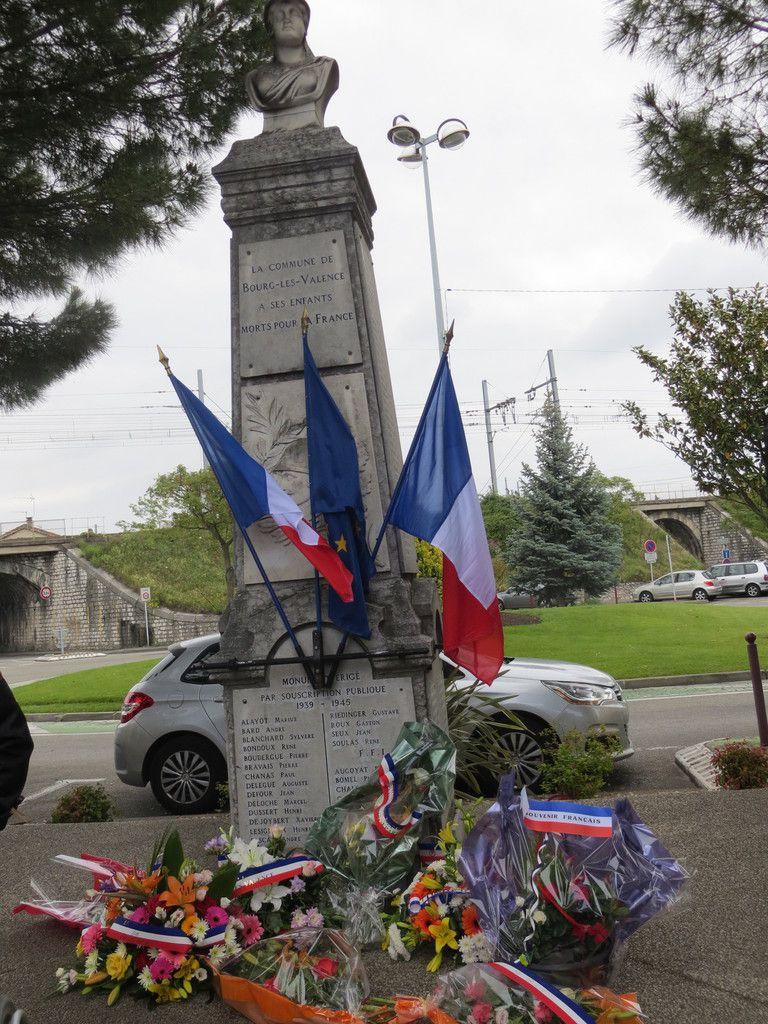 Bourg-lès-Valence, Cérémonie pour le 72éme anniversaire de la Victoire de 1945. mai 2017