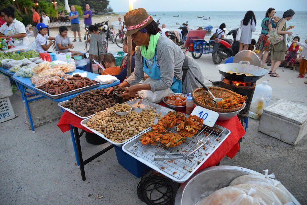 Thaïlande 2015 : Koh Phangan , le marché de rue de Thong Sala ...