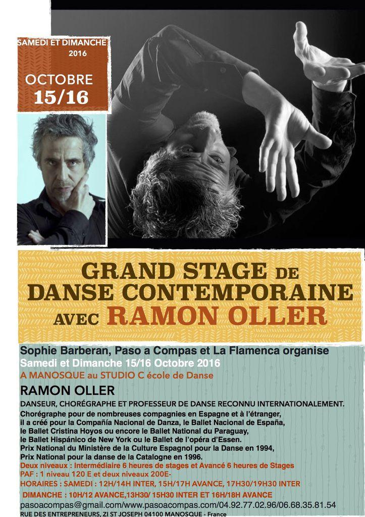 STAGE DE DANSE CONTEMPORAINE AVEC RAMON OLLER