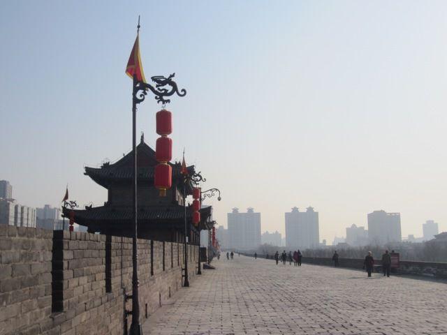 sur la muraille de Xian