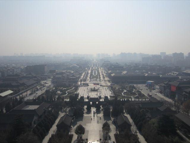 Xian du haut de la Big Wild Goose Pagoda