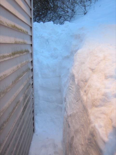 ouf ! J'ai sauvé notre porte-fenetre de l'agression neigeuse