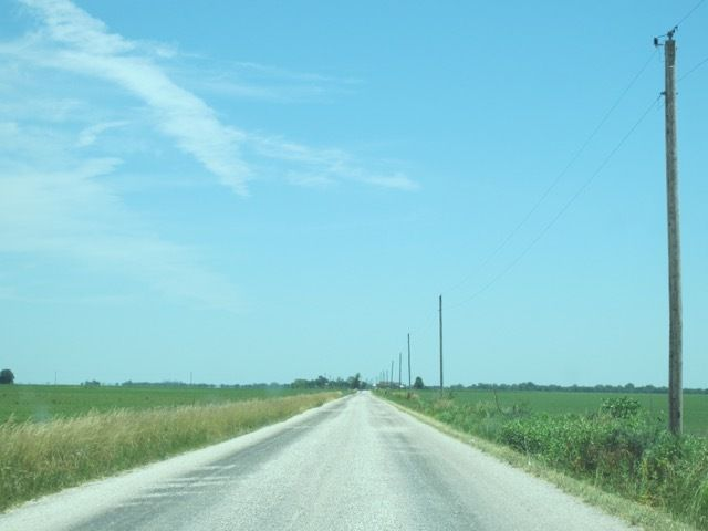 county road dans l'Illinois