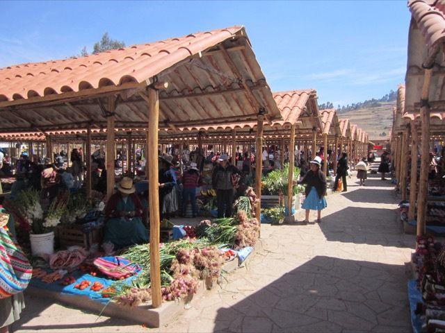 au marché de Chincheros