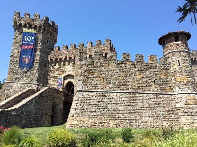 Castello di Amorosa et ses vignes