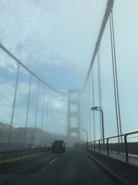 sur le Golden Gate Bridge