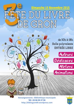 3 ème  fête du livre de Gron