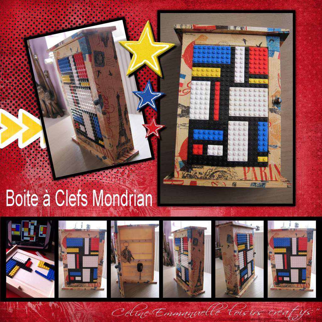 boite clefs mondrian c line emmanuelle loisirs cr atifs. Black Bedroom Furniture Sets. Home Design Ideas