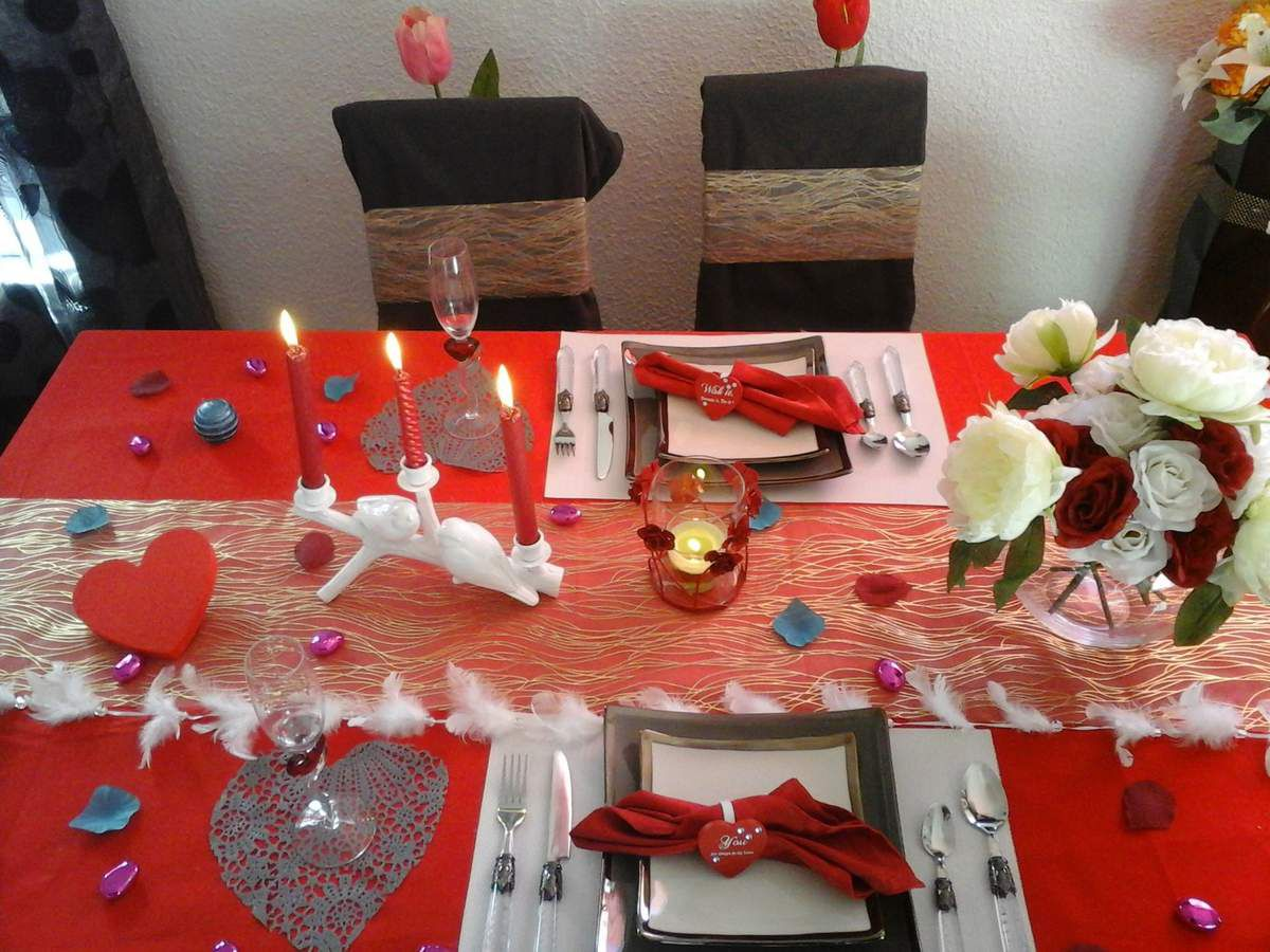 Grand concours saint valentin categorie art de table le for Deco table st valentin