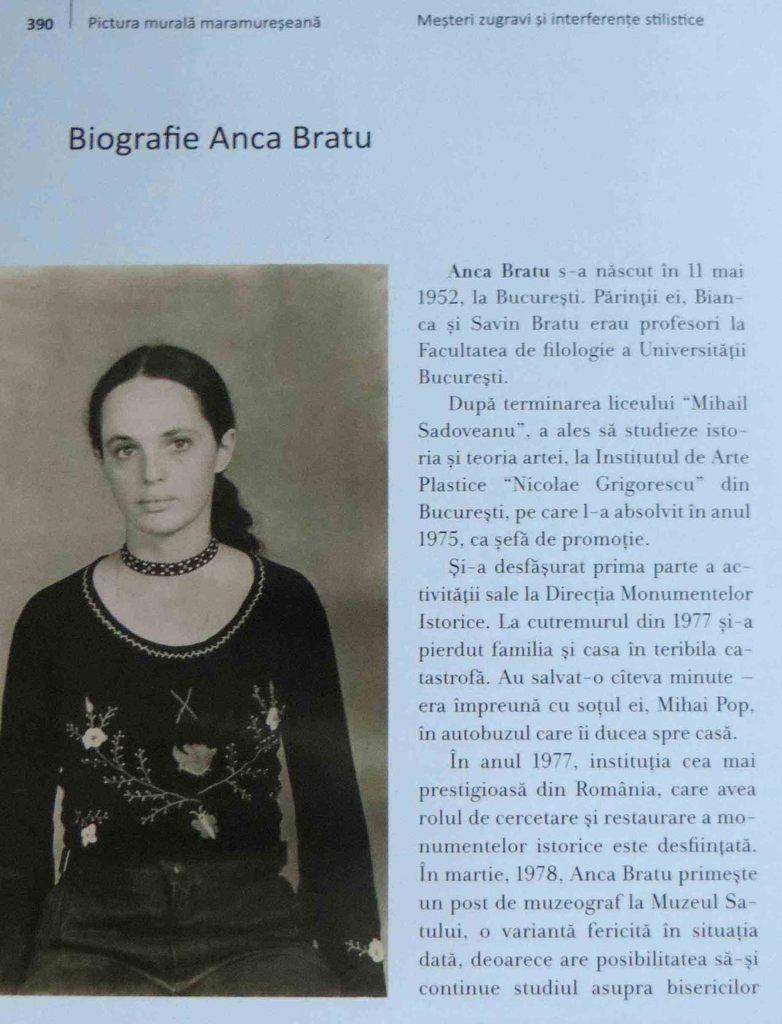 pagină din albumul Pictura murală maramureșeană: Meșteri zugravi și interferențe stilistice, 2015