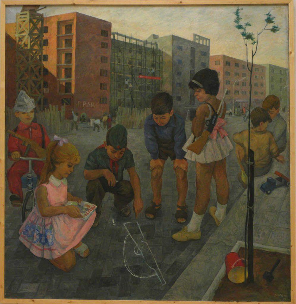 """Spiro Kristo, """"Copiii"""", 1966 foto: vladimir bulat, 2009."""