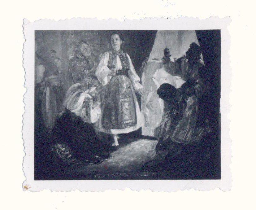 """""""Pregătirea pentru horă"""", 1955, MNAR."""