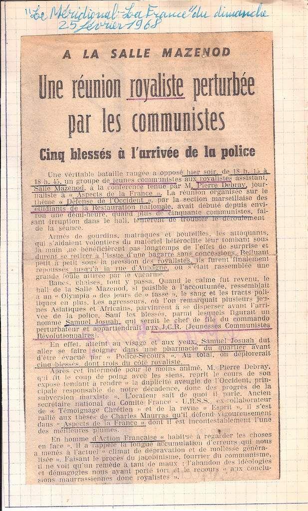L'Action Française invitée au conseil d'arrondissement , ou Comment la gauche se glorifie d'actes non-démocratiques