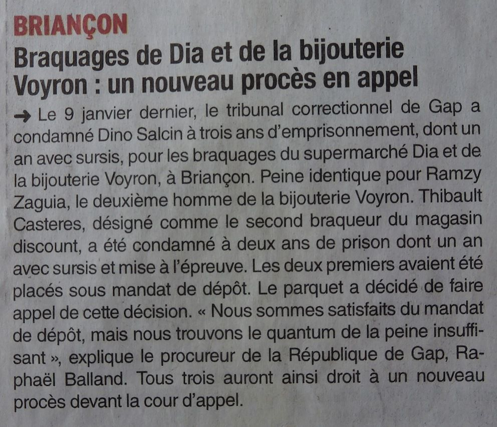 Ma petite revue de presse 25/01/2015 modifiée 01/02/2015