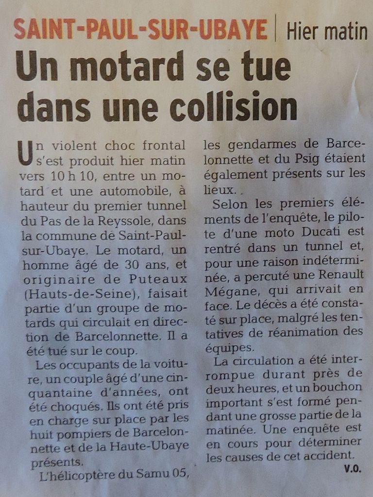 Ma petite revue de presse à Mr le Maire de Briançon 28/06/2015