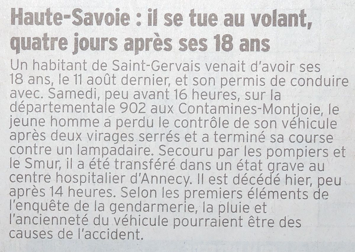 Ma petite revue de presse 30/08/2015