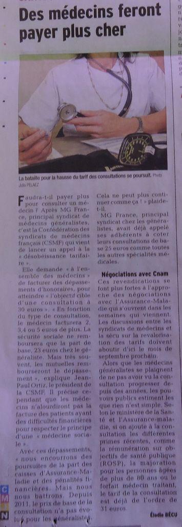 Ma petite revue de presse 14/01/2016