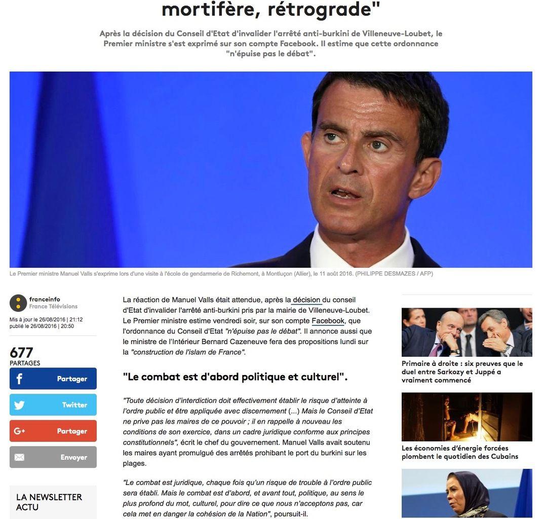 Petite revue de presse 30/08/2016
