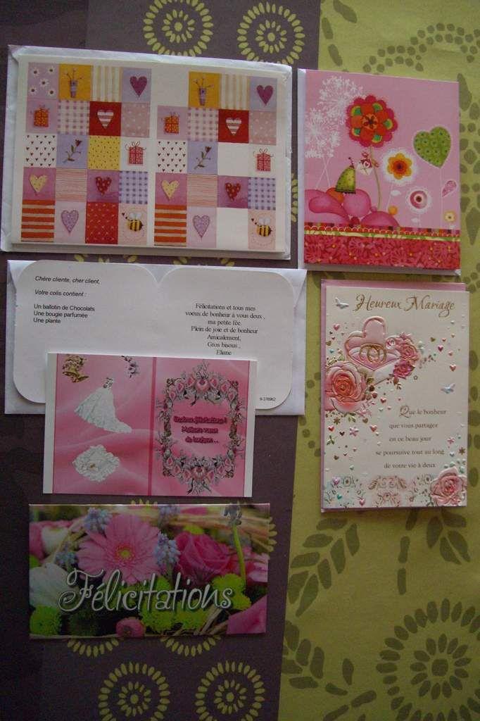 Mariage - Des cartes et cadeaux