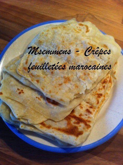 MSEMMEN CREPES FEUILLETEES MAROCAINES