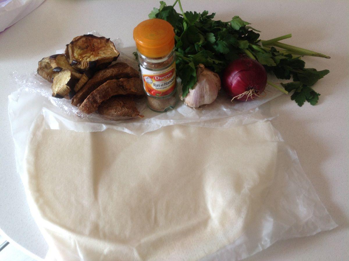 Samoussa de veau et aubergine