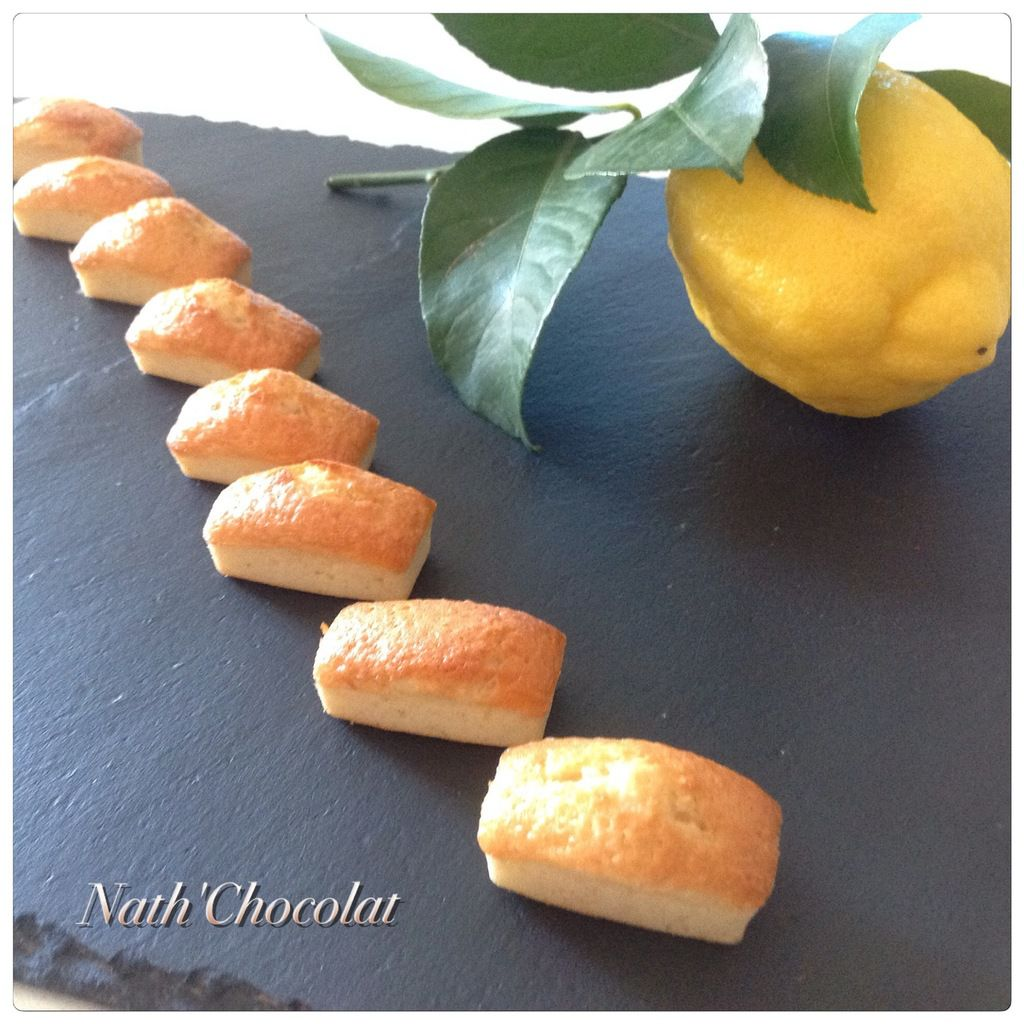Financier citron et limoncello