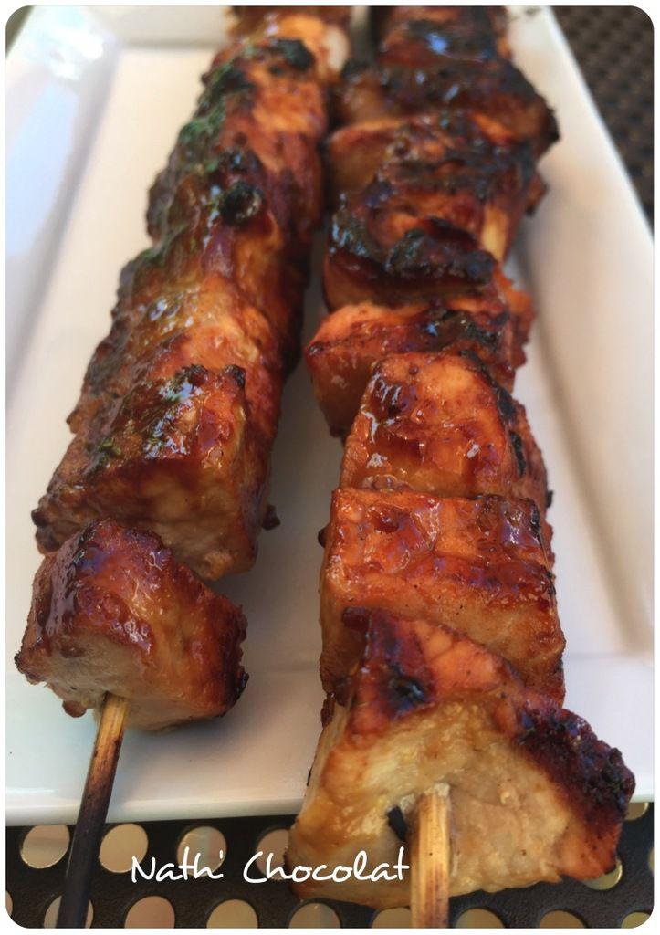 Brochette de porc au barbecue