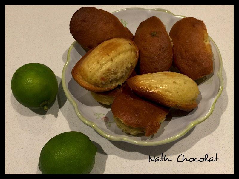Madeleine mascarpone et citron vert