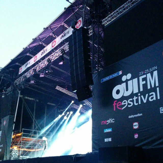 On air juste avant le OÜIFM Feestival