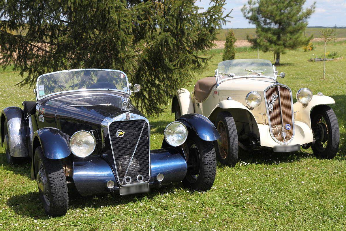 Georges Irat et Fiat Balilla, jadis concurrentes et aujourd'hui copines