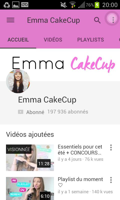 Emma CakeCup, une youtubeuse mode et beauté très drole qui fait aussi d'autres vidéos comme des challenges ou la lecture de ses journaux intimes!