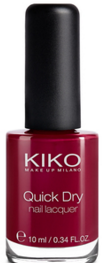 Kiko Quick dry Nail Lacquer - Apple Red 826 // 2.90e
