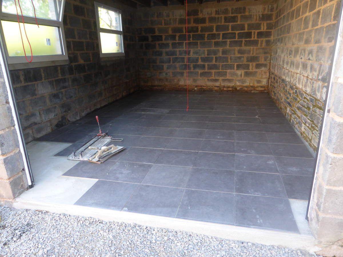 Jour 290 carrelage menuiserie notre projet de r novation for Carrelage pour garage
