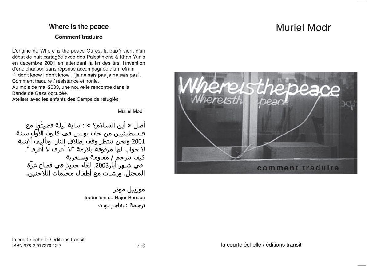 Palestine. Ateliers. Installations. Publications. Vidéos. 2001 - 2004 - 2010 - 2015
