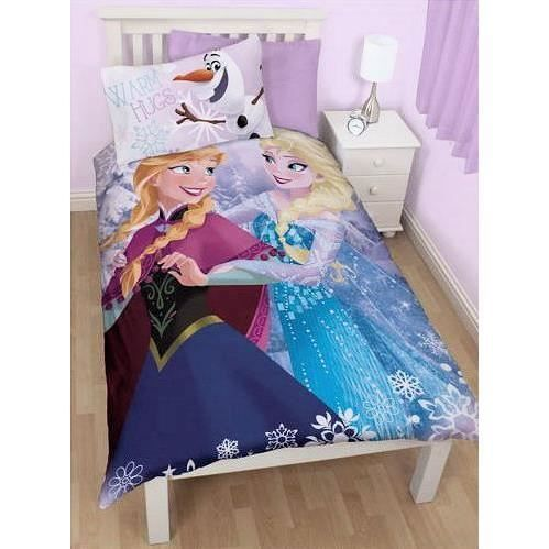 parure de lit 1 personne reine des neiges 1 housse de couette 1 taie tresor licence. Black Bedroom Furniture Sets. Home Design Ideas
