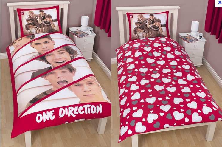 parure de lit 1 personne one direction 28 euros tresor licence. Black Bedroom Furniture Sets. Home Design Ideas