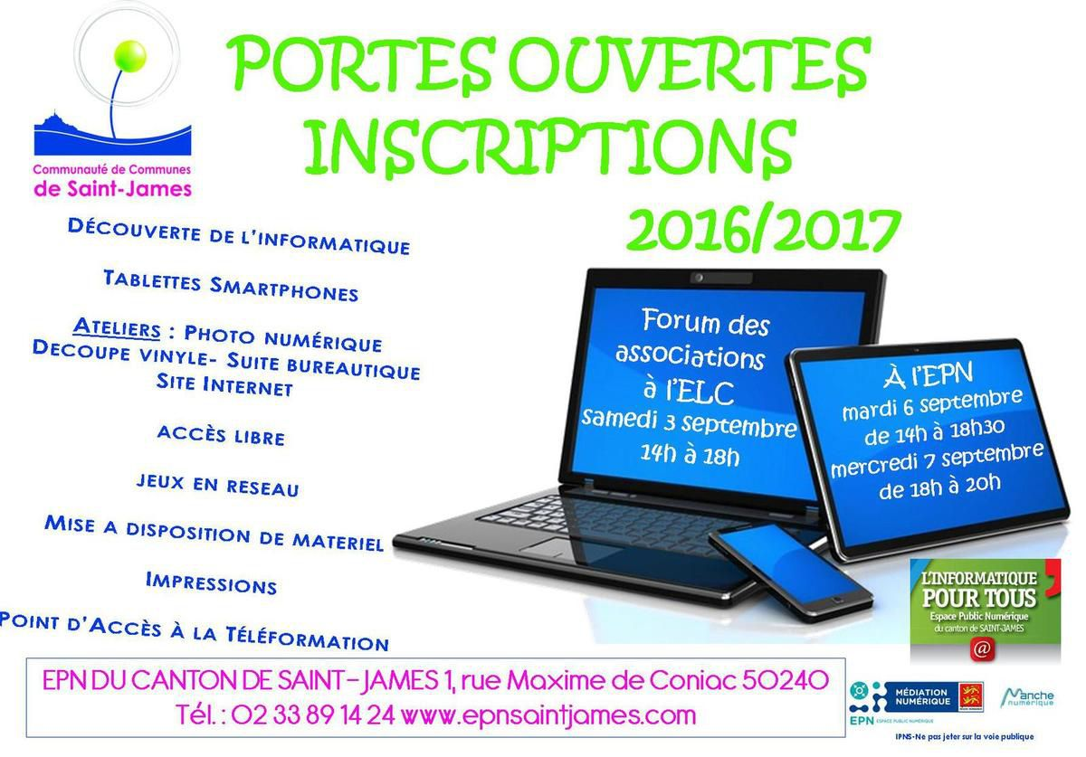 Inscriptions 2016-2017
