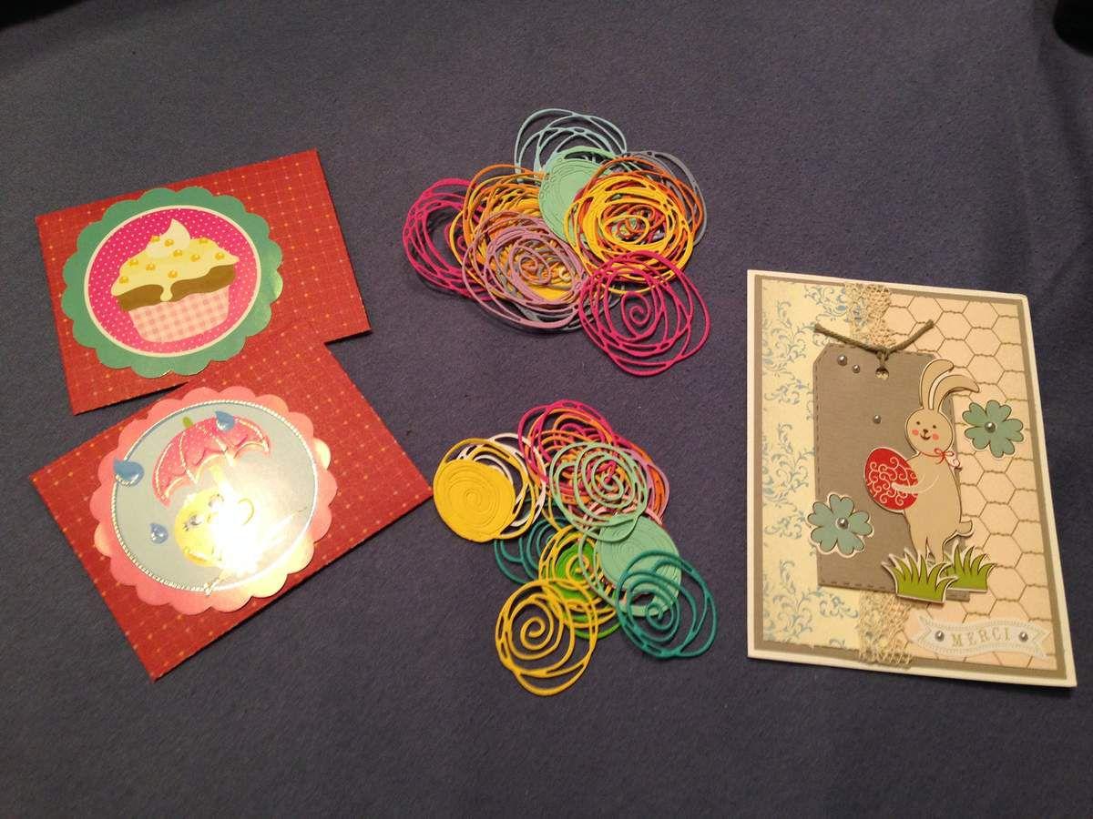 De lolotte, accompagné d'une jolie carte et les petites découpes rangées dans de jolies enveloppes.
