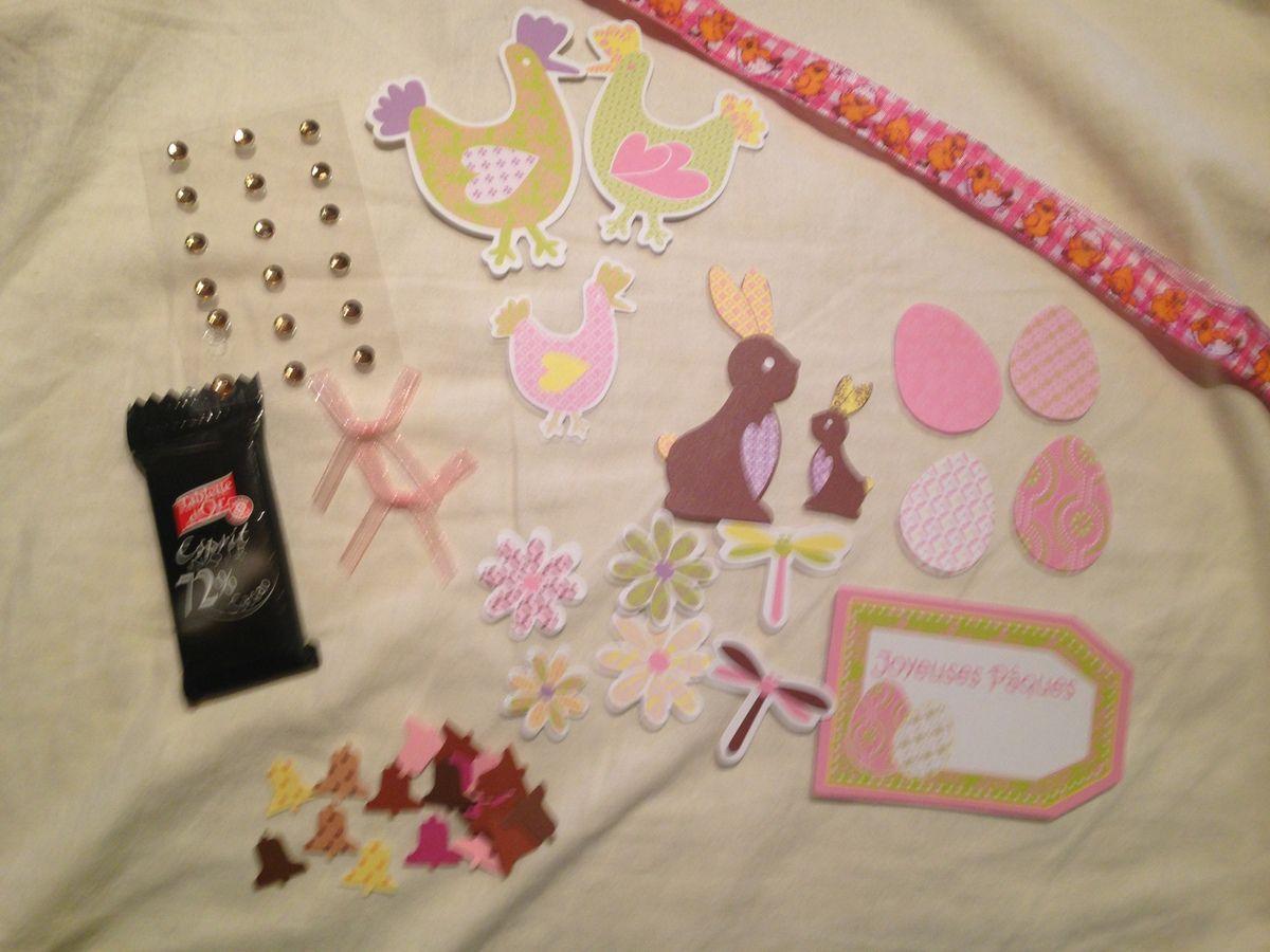 Les cadeaux, la jolie carte et les tamponnages qui accompagnent.