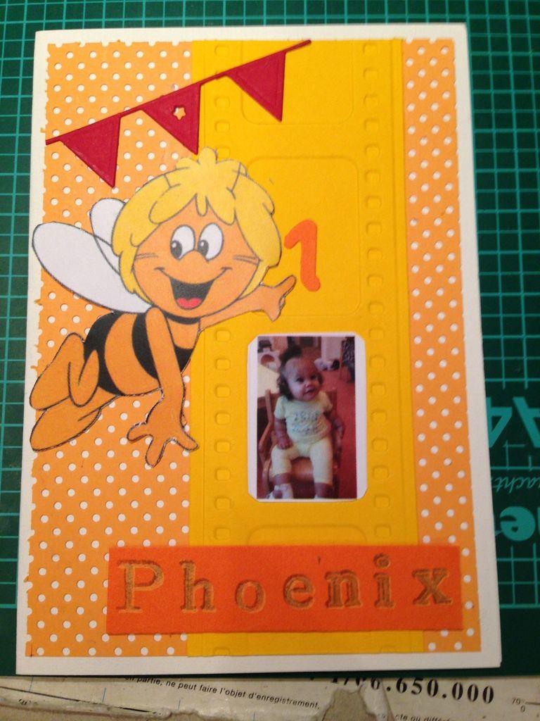 Commande pour le 1er anniversaire d'une petite Phoenix qui est fan de Maya l'abeille &#x3B;-)