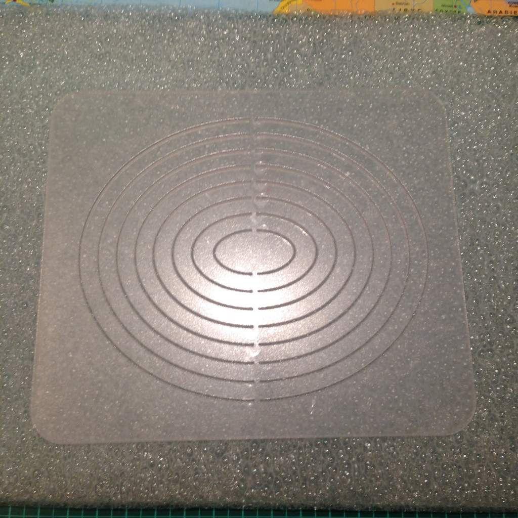 Gabarit de découpe ovales (Artecut Artemio) + tapis de coupe NEUF ! prix : 7.00€
